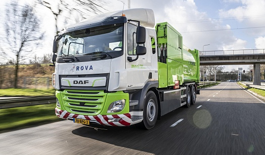 FIRST DAF CF ELECTRIC REFUSE COLLECTION TRUCK DELIVERED TO ROVA