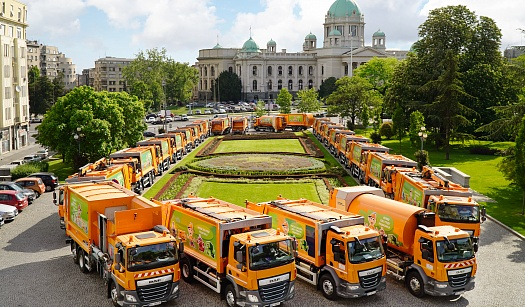 DAF TRUCKS DELIVERS 44 CITY SANITATION VEHICLES TO BELGRADEa